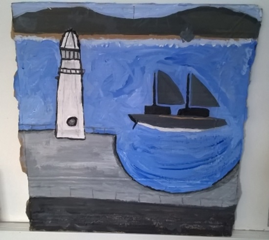 <B><I>Alfred Wallis Paint a Mini Masterpiece</I></B>