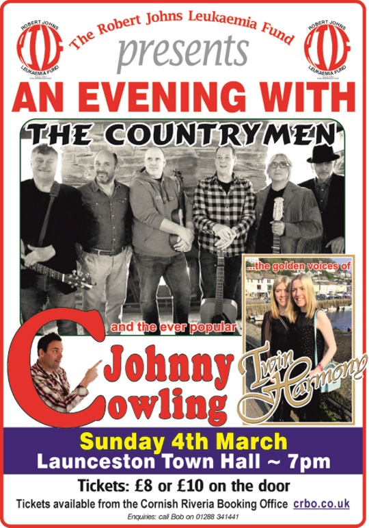 <B>Johnny Cowling with The Countrymen and Twin Harmony</B>