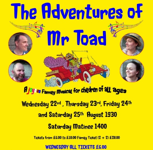 <B>The Adventures of Mr Toad</B>