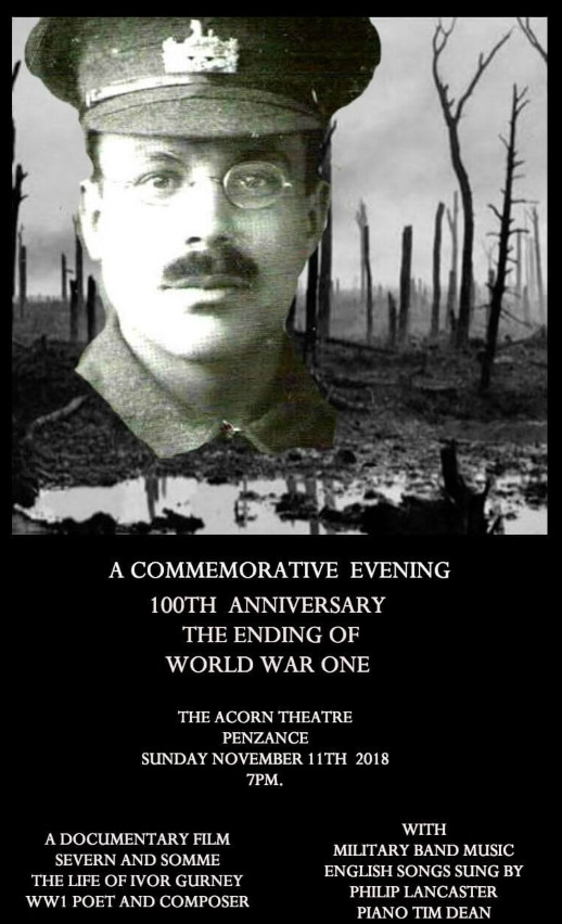 <B>A Commemorative Evening-100th Anniversary of The Ending of World War One</B>