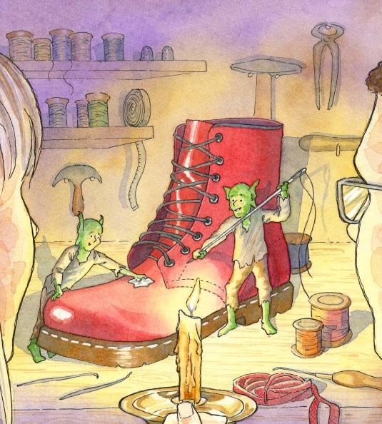 <B><I>Above Bounds : The Elves and the Shoemaker  </I></B>