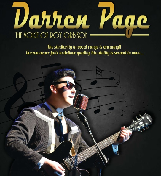 <B>Darren Page – The Voice of Roy Orbison</B>