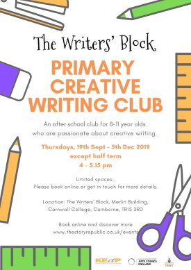 <B>Primary Creative Writing Club</B>