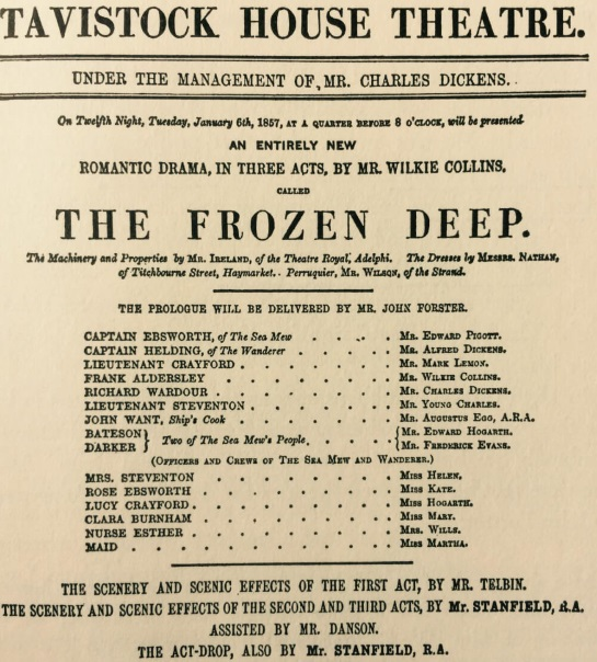 <B> The Frozen Deep – A Play by Mr Wilkie Collins</B>